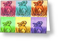 Primary Bunnies Greeting Card