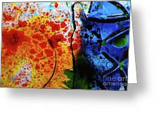 Primary Crystal Abstract Greeting Card
