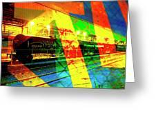Primary Night Train Greeting Card