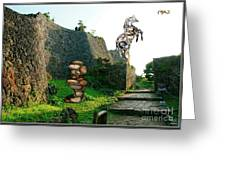 Primitive Statues Greeting Card