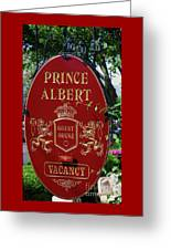 Prince Albert Guest House Sign Provincetown Greeting Card