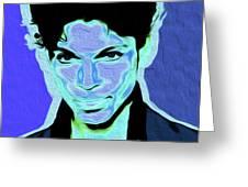 Prince Blue Nixo Greeting Card