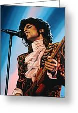 Prince Painting Greeting Card