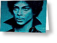 Prince - Tribute In Blue Greeting Card