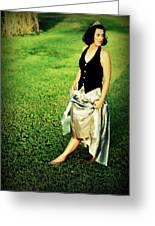 Princess Along The Grass Greeting Card