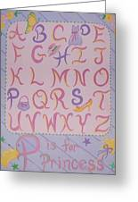 Princess Alphabet Greeting Card