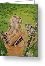 Princess And Frog Greeting Card
