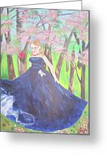 Princess In The Forest Greeting Card