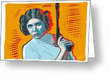Princess Leia Greeting Card by Antonio Romero