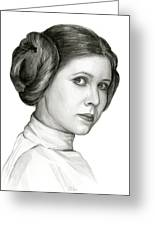 Princess Leia Watercolor Portrait Greeting Card