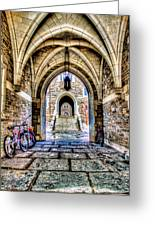 Princeton University Arches And Stairway To Education Greeting Card