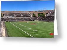 Princeton University Stadium Powers Field Panoramic Greeting Card