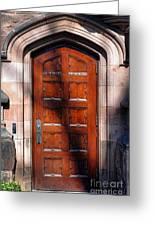 Princeton University Wood Door  Greeting Card