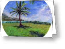 Princeville Palm Greeting Card by Kenneth Grzesik