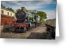 Print Of Gwr 6960 'raveningham Hall, Sits At Bishops Lydeard On  Greeting Card