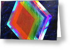 Prismatic Dimensions Greeting Card