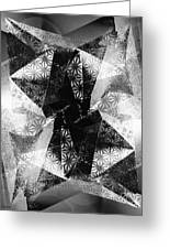 Prismatic Vision - Black And White Greeting Card