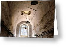 Prison Passageway Greeting Card