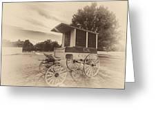 Prison Wagon In Sepia Greeting Card