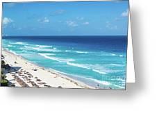 Pristine Beach In Cancun Greeting Card