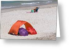 Privacy For Two At The Beach Greeting Card