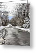 Private Country Road Greeting Card