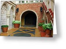 Private Entrance Greeting Card