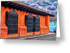 Private House Antigua Guatemala - Guatemala Greeting Card