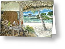 Private Island Greeting Card