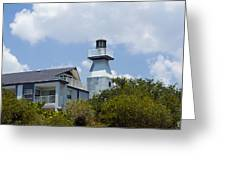 Private Lighthouse On The Indian River Lagoon In  Melbourne Florida Greeting Card
