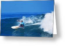 Pro Surfer Ezekiel Lau-1 Greeting Card