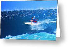 Pro Surfer Ezekiel Lau-3 Greeting Card