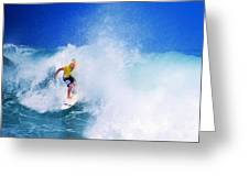 Pro Surfer-nathan Hedge-5 Greeting Card