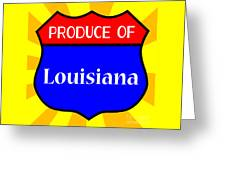 Produce Of Louisiana Shield Greeting Card