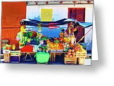 Produce Seller Greeting Card