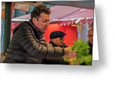 Produce Vendor Venice Italy_dsc4540_03032017 Greeting Card
