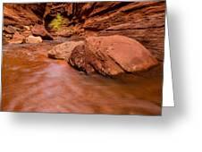 Professor Creek Canyon 2 Greeting Card