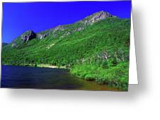 Profile Lake Franconia Notch Greeting Card