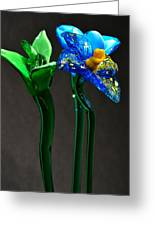 Profile Of Glass Flowers Greeting Card