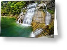 Profile Of The Lower Falls At Enfield Glen Greeting Card
