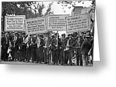 Prohibition Protestors Greeting Card
