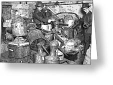 Prohibition Stills Inspected By Treasury Agents Greeting Card