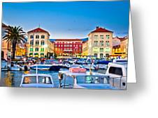 Prokurative Square In Split Evening Colorful View Greeting Card