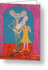 Prom Mice Greeting Card