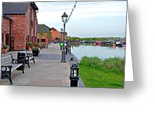 Promenade And Boats At Barton Marina Greeting Card
