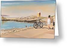 Promenade At Salthill Galway Greeting Card
