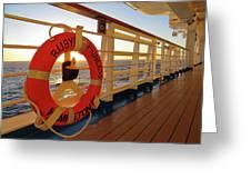 Promenade Deck Greeting Card