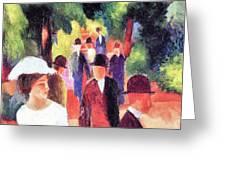 Promenade II By August Macke Greeting Card