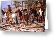 Prospecting For Cattle Range 1889 Greeting Card