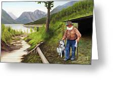 Prospector And Best Friend Greeting Card